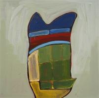 "Homer, 2014, 20""x 20"", acrylic:linen"